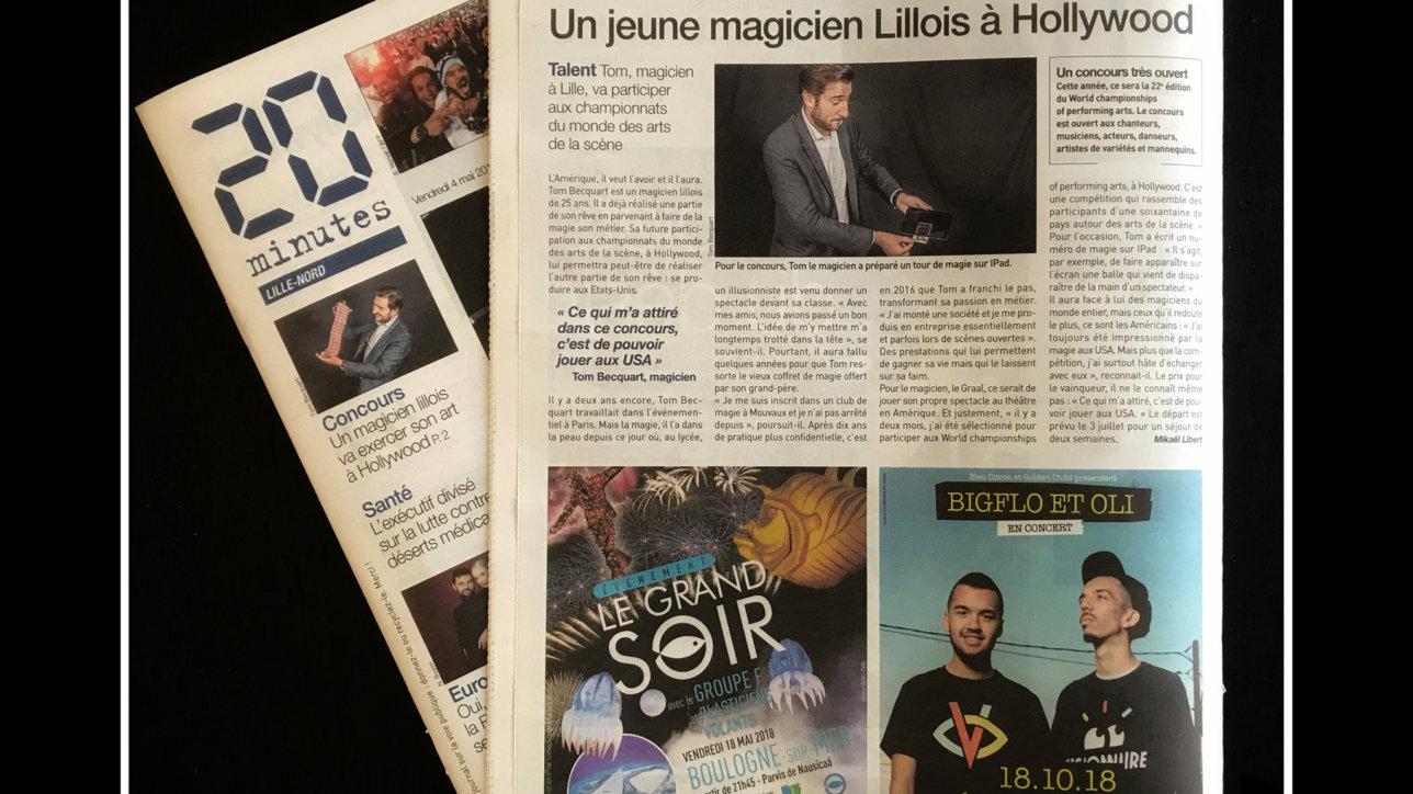Tom Le Magicien - 20 Minutes Lille